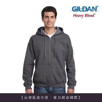 GILDAN 總代理-美規素面經典復古連帽拉鏈外套-276C粗花呢色