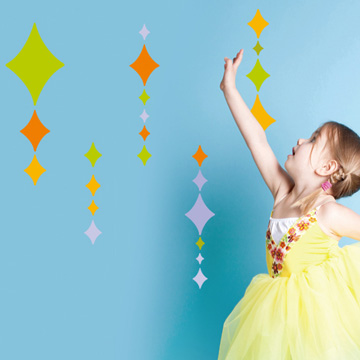 《Smart Life》創意無痕壁貼◆粉彩菱形