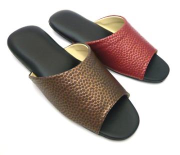 (e鞋院) 靜謐星點雙色室內皮拖鞋