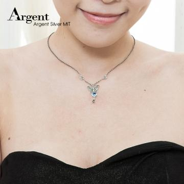 【ARGENT銀飾】動物系列「鑽蝶(淺藍色拓帕石)」純銀項鍊