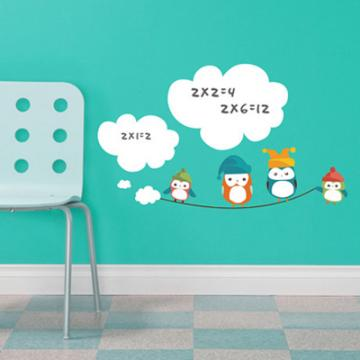 《Smart Life》創意無痕壁貼◆雲朵白版貓頭鷹
