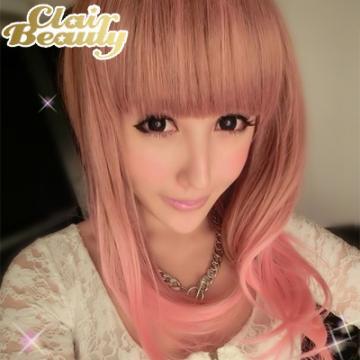 【MC079-1】甜甜棉花糖粉紅挑染中長髮