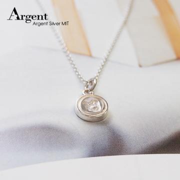 【ARGENT銀飾】星座系列「魔羯(山羊)座-迷你圓牌」純銀項鍊
