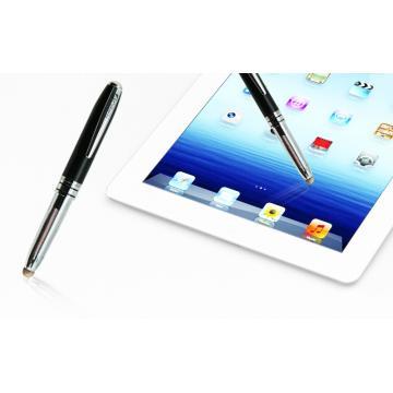 Obien 歐品漾 高級兩用途電容式觸控筆(原子筆頭可收納) 質感銀