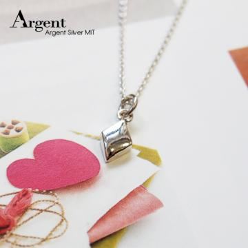 【ARGENT銀飾】撲克牌系列「立體小方塊♦(diamond)」純銀項鍊
