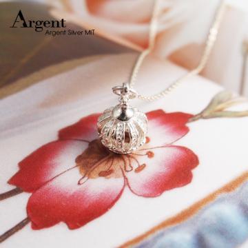 【ARGENT銀飾】皇冠系列「優雅花冠」純銀項鍊(無染黑款)(單條價)