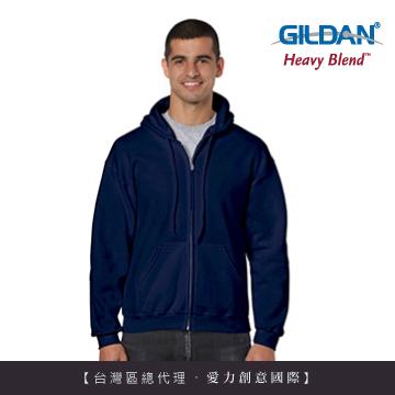 GILDAN 總代理-美規 連帽拉鍊素面長袖口袋外套(32C藏青色)