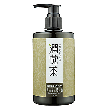 【潤覺茶】茶樹綠茶輕感淨化洗髮露(350ml)一般及油性髮質適用