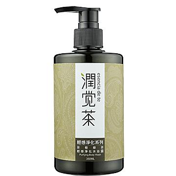 【茶寶 潤覺茶】茶樹綠茶輕感淨化沐浴露(350ml)一般及油性膚質適用