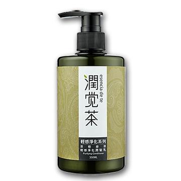 【茶寶 潤覺茶】茶樹綠茶輕感淨化潤髮乳(350ml)一般及油性髮質適用