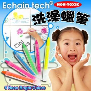LOG樂格 兒童洗澡蠟筆組-螢光色6入