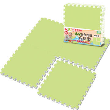 《LOG樂格》環保PE棉粉彩巧拼墊-田原綠