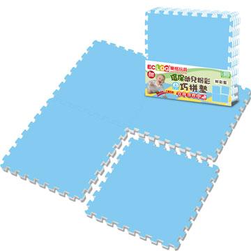 《LOG樂格》環保PE棉粉彩巧拼墊-天空藍