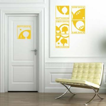 【Smart Design】創意無痕壁貼◆剪影門牌 8色可選
