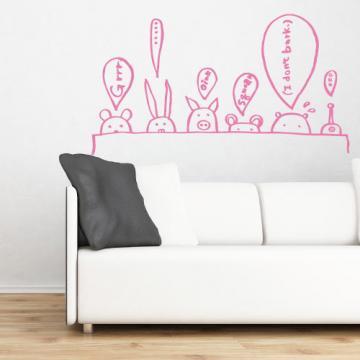 【Smart Design】創意無痕壁貼◆動物哇哇叫 8色可選