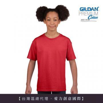 GILDAN 總代理-100%美國棉~亞規圓筒短袖素面-童Thirt (3件)