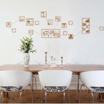 【Smart Design】創意無痕壁貼◆咖啡 8色可選