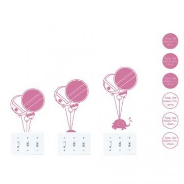 【Smart Design】創意無痕壁貼◆氣球與象 8色可選