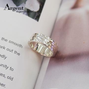 【ARGENT銀飾】造型系列「甜蜜烙印(寬.男)8mm」純銀戒指(敲打戒)