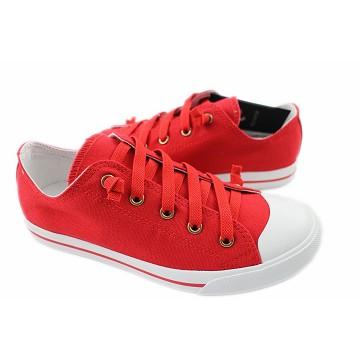 2014春夏新款 Burnetie女款 素色低筒帆布鞋(紅色)