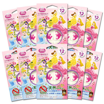 迪士尼 公主台灣製12小時天然驅蚊貼片120枚