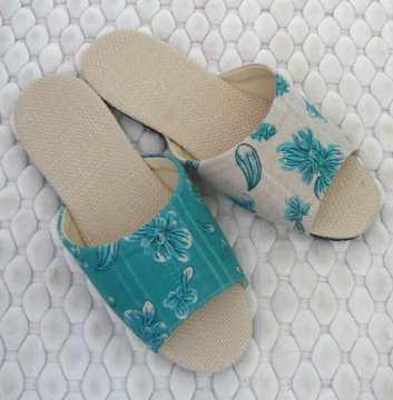 (e鞋院) 【簡單生活】亞麻室內拖鞋 ~NEW~