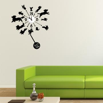 【Smart Design】創意無痕壁貼◆狗狗時光8色可選(含時鐘機芯)