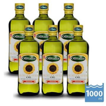 【Olitalia奧利塔】葵花油1000mlx6瓶(3組禮盒)