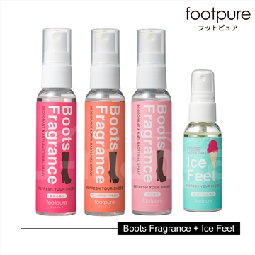 footpure香靴秘密心機噴霧/60ml(三種香味可供挑選)+ice feet/40ml(薄荷香)-各一入
