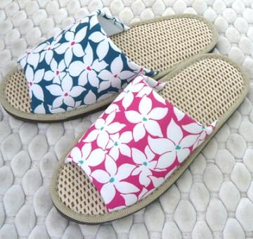 (e鞋院) 【鳥語花香】紙蓆室內拖鞋