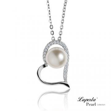 大東山珠寶 純銀晶鑽珍珠項鍊 唯愛珍心