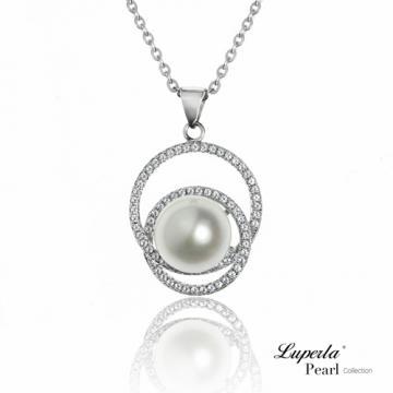 大東山珠寶 純銀晶鑽珍珠項鍊 星河戀曲