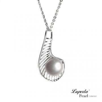 大東山珠寶 純銀珍珠項鍊情網 兩色