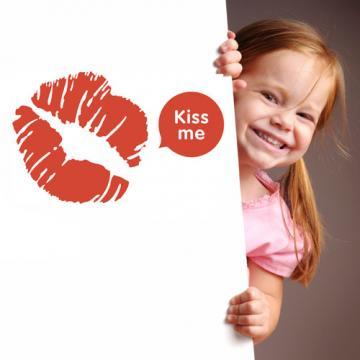 【Smart Design】創意無痕壁貼◆熱吻