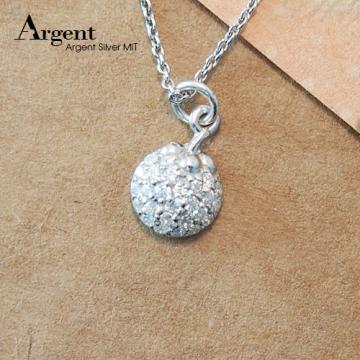 【ARGENT銀飾】微鑲鉑銀閃亮系列「晶鑽小瓢蟲(白K金)」純銀項鍊