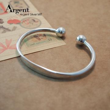 【ARGENT銀飾】手環系列「環珠」純銀手環 (素面可加購刻字)