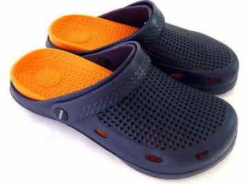 (e鞋院)園丁鞋/布希鞋II---男(藍/橘)