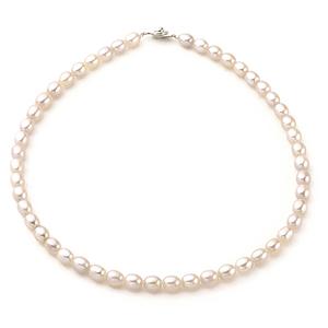大東山珠寶 撫媚柔情天然淡水橢圓珍珠項鍊 - 三色