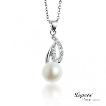 大東山珠寶 純銀晶鑽珍珠項鍊 永恆之星