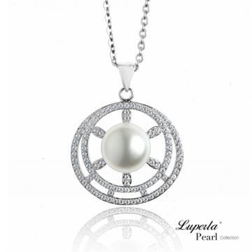 大東山珠寶 純銀晶鑽珍珠項鍊 星空浪漫