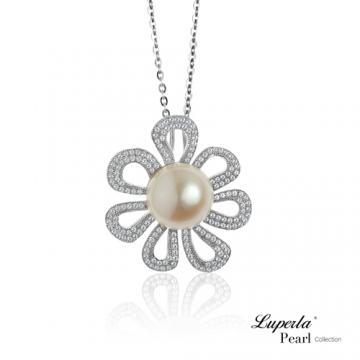 大東山珠寶 純銀晶鑽珍珠項鍊 花火燦爛 部落客推薦❤