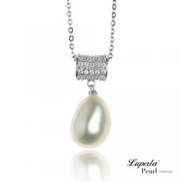 大東山珠寶 純銀晶鑽珍珠項鍊 為你鍾情