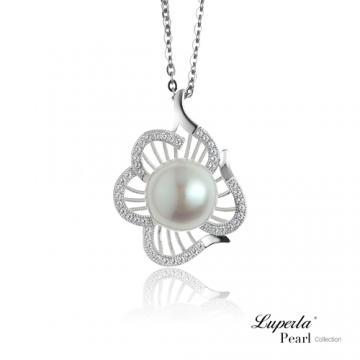 大東山珠寶 純銀晶鑽珍珠項鍊 等待愛情