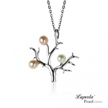 大東山珠寶祈願淡水珍珠珊瑚樹項鍊