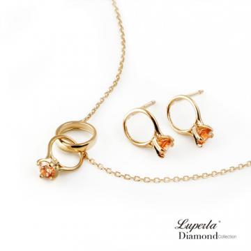 大東山珠寶 頸間的悸動 寶石純銀項鍊耳環套組