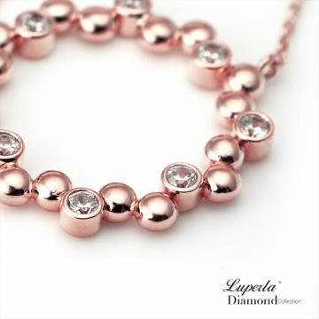 大東山珠寶炙熱玫瑰玫瑰金純銀鑲鑽項鍊