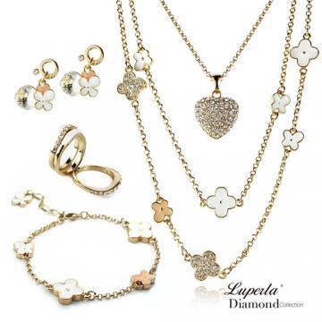 Luperla 花漾 項鍊手鍊耳環戒指五件組