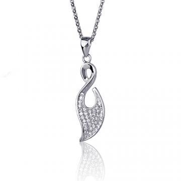 Luperla 漂泊/星葉純銀晶鑽項鍊