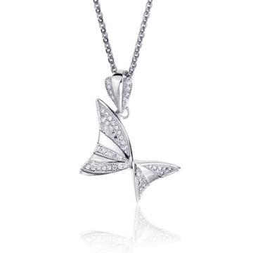 Luperla當下小蝴蝶純銀晶鑽項鍊