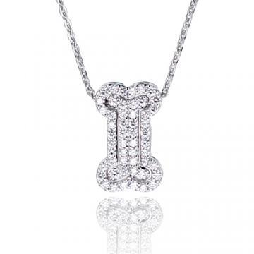 【Luperla】璀璨滿鑽銀飾系列-閃亮骨頭項鍊